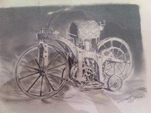 1st gasoline powered motorcycle - G.T.