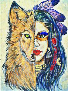 Native Wolf Sister