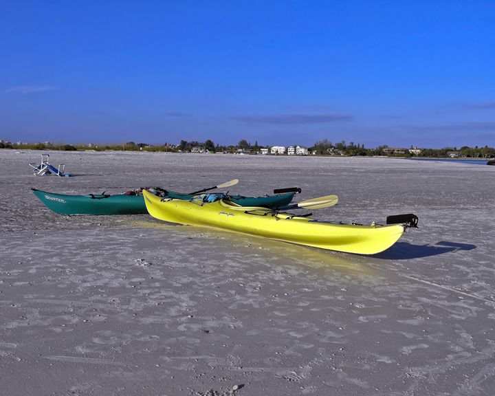 Beached Kayaks - Sally Weigand Images