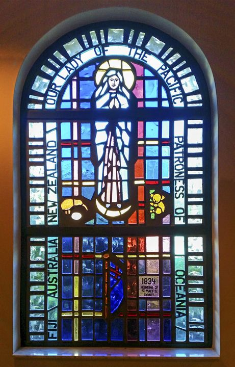 Our Lady of the Pacific Window - Sally Weigand Images
