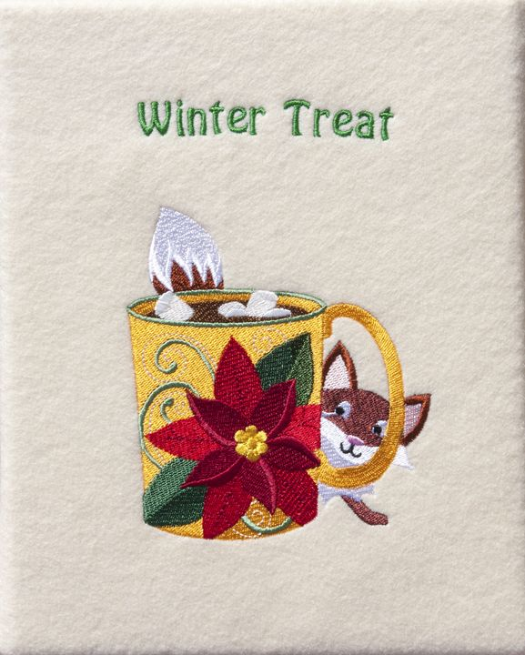 Steaming Cocoa and Fox Embroidery - Sally Weigand Images