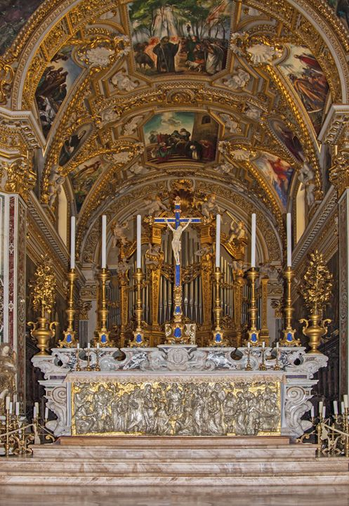 Ornate Altar, Abbey of Montecassino - Sally Weigand Images