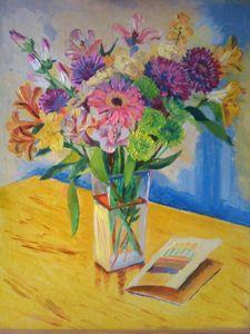 """Bouquet of Flowers"" 2010 16x20"""