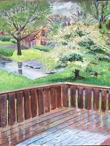 """A rainy day"", 11x14"", acrylic, 2014"