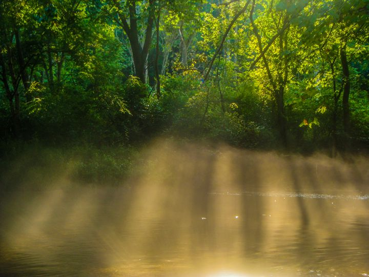 Light Beams Thru River Steams - Jonathan M. Schwartzman