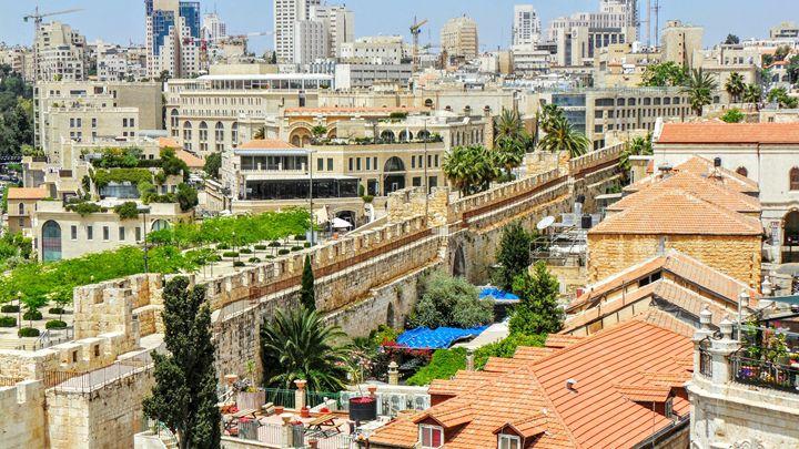 Ramparts At Jaffa Gate - Jonathan M. Schwartzman