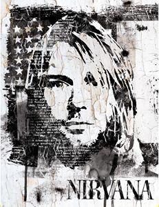 Street Art Portrait of Kurt Cobain