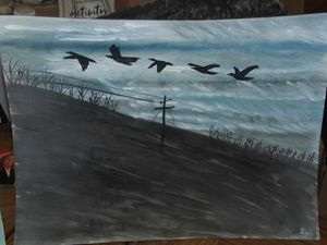 Flying geese across from Fill Zone,