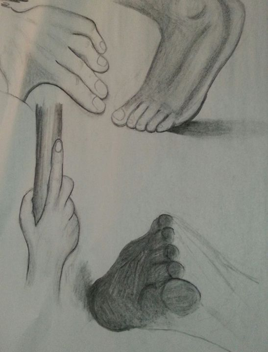 Feet and Hand - Art by Audriana