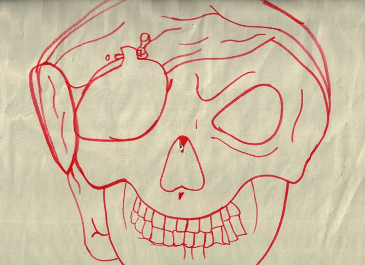 Pirate Skull - Art by Audriana