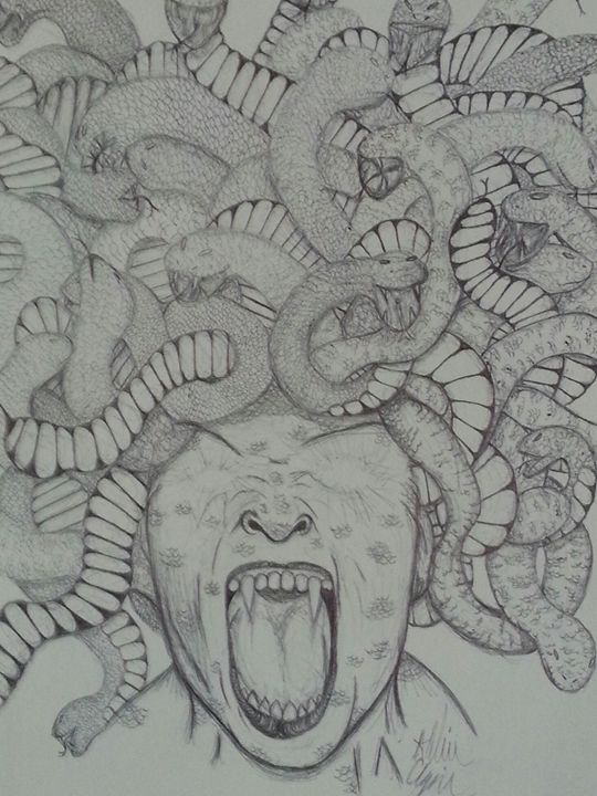Screaming Dusa - Art by Audriana