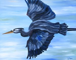 Flying Egret - Art Attack