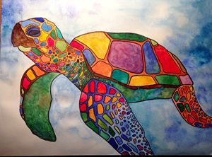 Colorful Sea Turtle