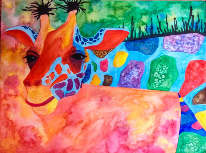 Colorful Giraffe - Art Attack