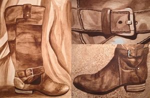 Leather Boot Watercolor