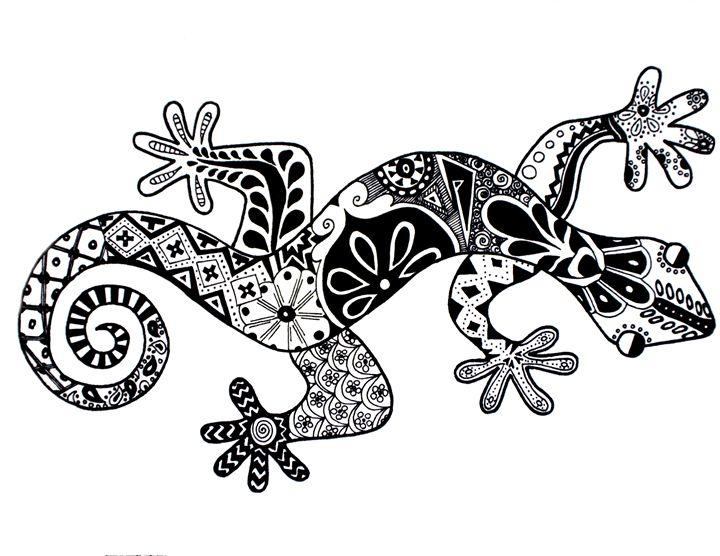 Lizard Pattern - Art Attack