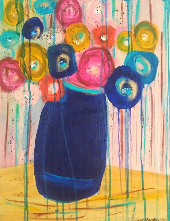 Forget Me Not (Blooming Blooms) SOLD - Christy Tremblay