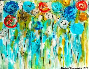 Blooming Blooms Aqua Bella