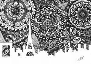 Zentangle Art Paris [B&W]