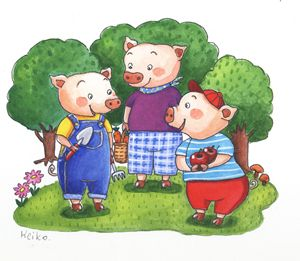 Three little pigs scene 2