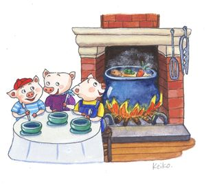 Three Little Pigs scene 13