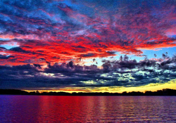 Yellow Stripe Sunset - Mark Goodhew Photography