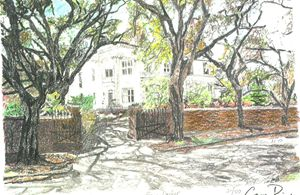 Wise House, Wilmington, UNCW Alumni - drawings by GaryD