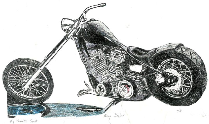My Favorite Scoot - drawings by GaryD