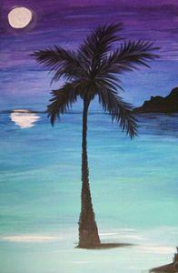 Lone Palm at Night
