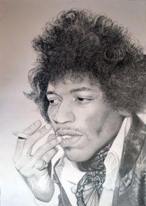 Jimi Hendrix drawing 100x70