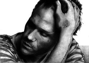Heath Ledger pencil drawing