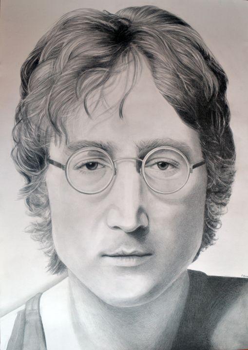 John Lennon drawing 100x70 - Sara's