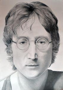 John Lennon drawing 100x70