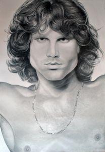 Jim Morrison drawing 100x70