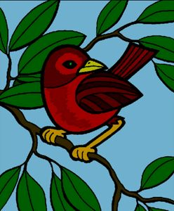 Red bird - Groovy Angel