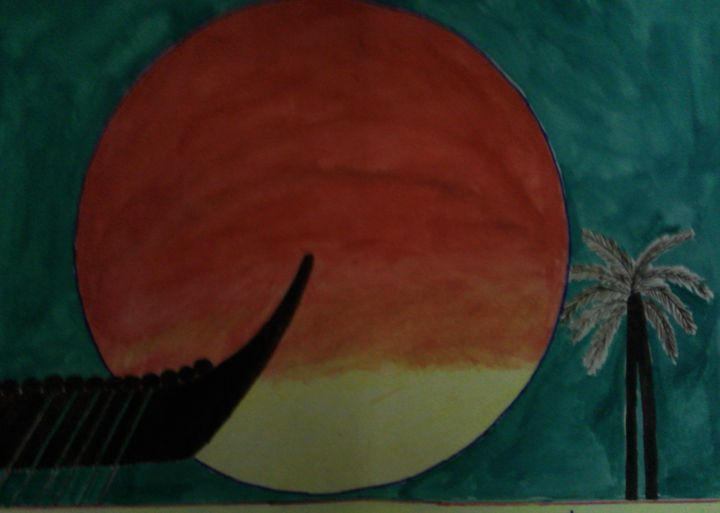 Scenery-Sunset - Lallu's paintings & photography