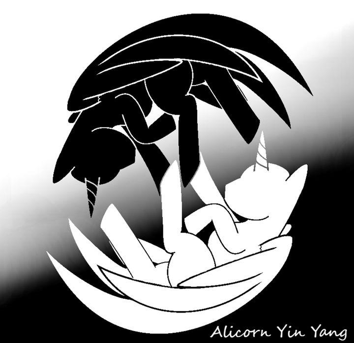 Alicorn Yin Yang - Fleurdelis