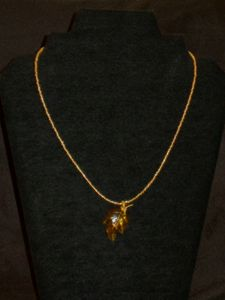 Beautiful Gold Seeds Beads Necklace