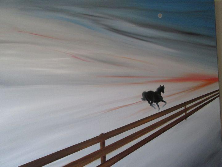 the run - Darius Sanei paintings