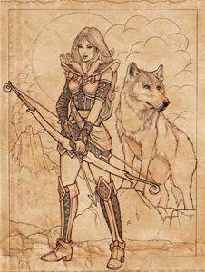 Skade Goddess Sketch