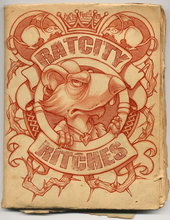 RatCity sketch book page - RJM Illustrations
