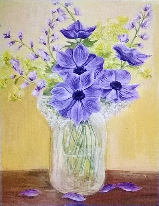 Purple Flowers - Magic Art