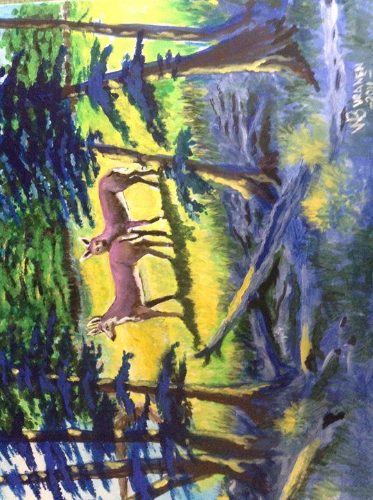 deer in the woods - walter Buranen