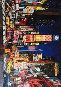 Times Square city scape jigsaw