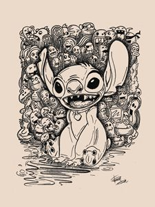 Stitch with his sidekicks