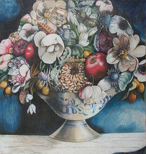 Crockery Vase of Flowers