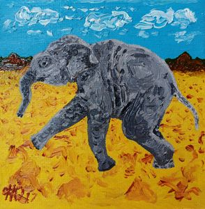 Round Baby Elephant
