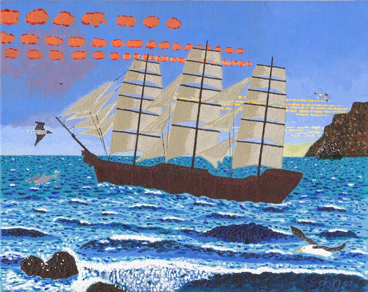 Wind Ship - Philip's Oil Paintings