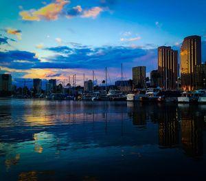 Ala Wai Harbor Sunset