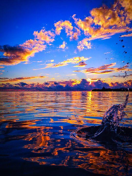 Water Splash Drop at the Bay - B_Wongo Photography